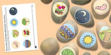 There's a Worm at the Bottom of My Garden Story Stones Image Cut-Outs