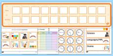 KS3 Visual Timetable Resource Pack