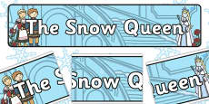 The Snow Queen Display Banner