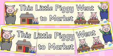 This Little Piggy Display Banner