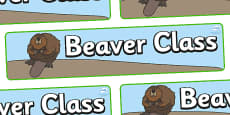 Beaver Themed Classroom Display Banner
