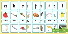 Alphabet Matching Picture Card Game