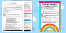 I Can Feel a Rainbow Poem Activity EYFS Adult Input Plan and Resource Pack