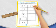 Visual Perception Copy the Shapes Activity Sheet