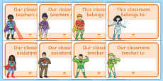 Editable Superhero Classroom Welcome Signs