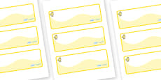 Chicks Themed Editable Drawer-Peg-Name Labels (Colourful)
