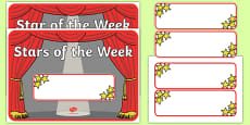 Star of the Week Stage A3 Poster
