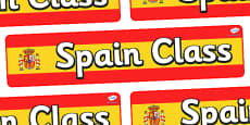 Spain Themed Classroom Display Banner