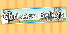 Christian Beliefs Display Banner