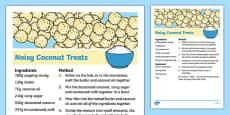 Noisy Coconut Treats Recipe
