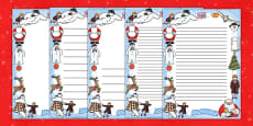 Page Borders to Support Teaching on The Snowman