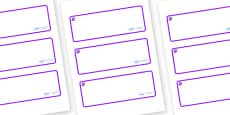 Amethyst Themed Editable Drawer-Peg-Name Labels (Blank)