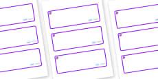 Amethyst Themed Editable Drawer-Peg-Name Labels (Blank)