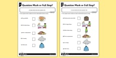 Question Mark or Full Stop? Differentiated Activity Sheet