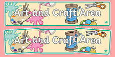 Art and Craft Area Banner