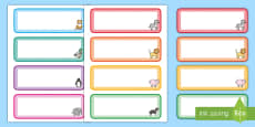Cute Animals Themed Drawer, Peg, Name Labels