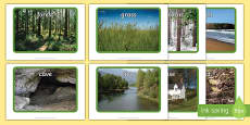 Settings Display Photos to Support Teaching on Bear Hunt