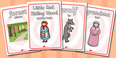 Little Red Riding Hood Display Posters Romanian Translation