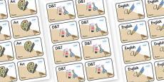 Lark Themed Editable Book Labels