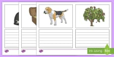 KS2 Simple Sentence Picture Writing Frames