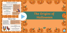 The Origins of Halloween PowerPoint