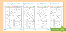 Colour by 2s, 5s & 10s Multiplication Activity Activity Sheet