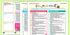 Music Area Continuous Provision Plan Posters 16-26 to 40-60 Months
