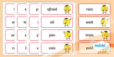PlanIt English Additional Resources Year 1 Term 1B Spelling Word Cards