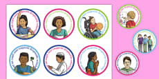 Rights Respecting Schools Badges Romanian