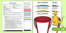 EYFS My Bucketful of Imagination Adult Input Plan and Resource Pack to Support Teaching on Harry and the Bucketful of Dinosaurs