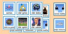 Television Programmes Matching Game Gaeilge