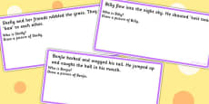 'Who Are They?' Infer From Text And Draw Cards