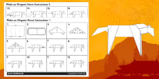 Chinese New Year Origami Horse Instructions Activity