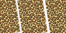 Leopard Themed Pattern A4 Sheets