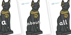 100 High Frequency Words on Egyptian Cats