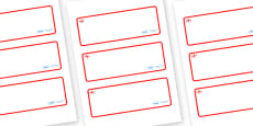 England Themed Editable Drawer-Peg-Name Labels (Blank)
