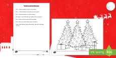 DE Weihnachtsbäume Activity Sheet