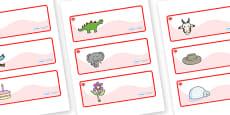 Maple Themed Editable Drawer-Peg-Name Labels