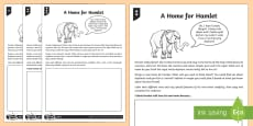 Hamlet's Ideal Home Activity Sheet