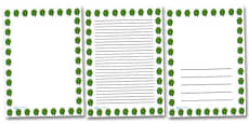 Posy Of Flowers Portrait Page Borders