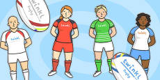 Rugby Kit Cut Outs
