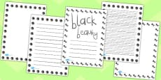 Black Beauty Page Borders