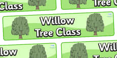Willow Themed Classroom Display Banner