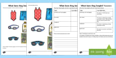 What Have They Bought? Making Inferences Activity