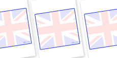 Great Britain Themed Editable Classroom Area Display Sign