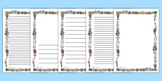 Ancient Romans Page Borders