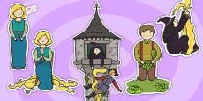 Rapunzel Story Cut Outs