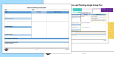 Large Group Objective Led Planning Template