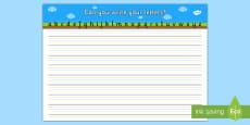 Can you Write Your Letters Activity Sheet (Ground, Sky, Grass)