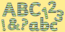 Bridge Themed Display Letters and Numbers Pack